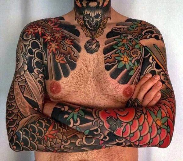 155 mesmerizing japanese tattoo ideas to fall in love with. Black Bedroom Furniture Sets. Home Design Ideas
